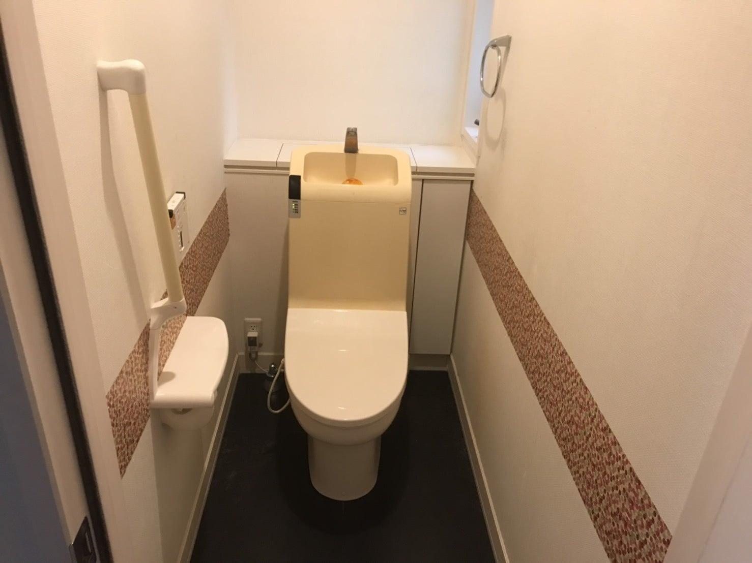 N邸 トイレ 壁紙取替